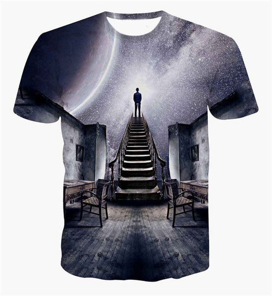 Stairway to Heaven Sublimation T-Shirt Men/Women - EDM Clothing Company