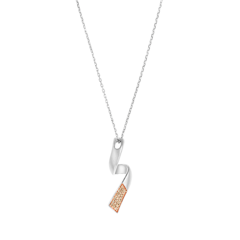 Mat Polished Diamond Pendant Twist