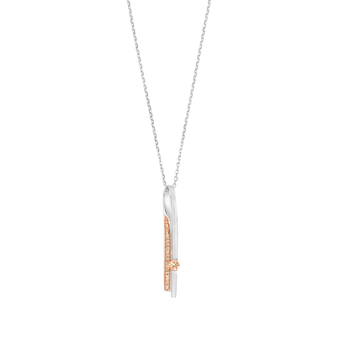 Dropdown Brown Diamond Pendant
