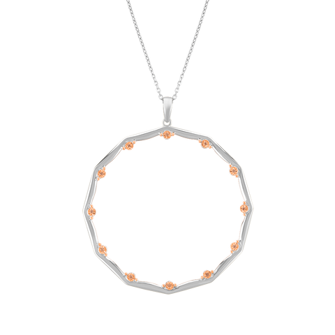 Diamond Studded Hoop Pendant