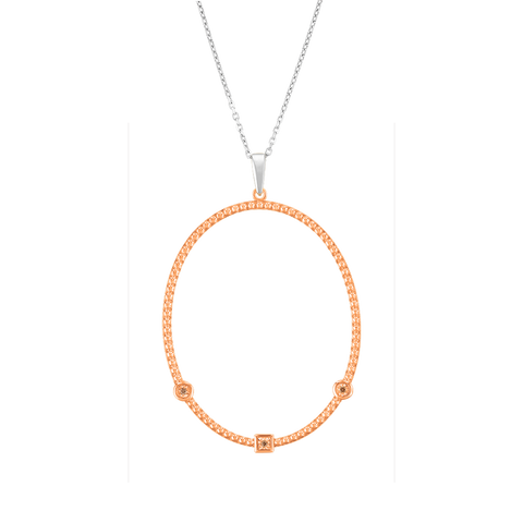 Beaded Diamond Hoop Pendant
