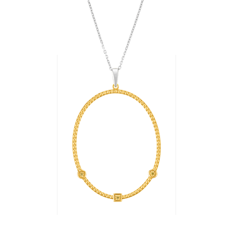 Citris Beaded Hoop Pendant