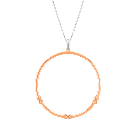 Bow & Diamond Hoop Pendant