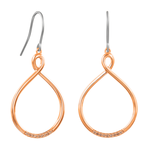 Cappucino Oval Twist Hoop Earrings