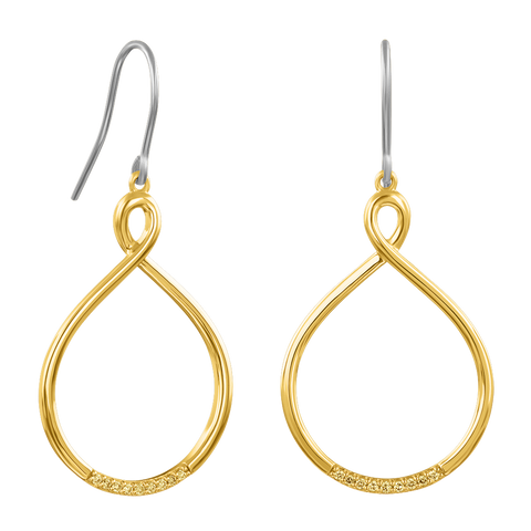 Citris Oval Twist Hoop Earrings