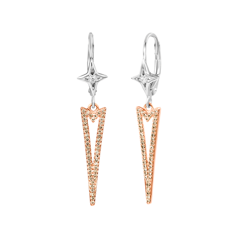 Modern Triangle Diamond Earring