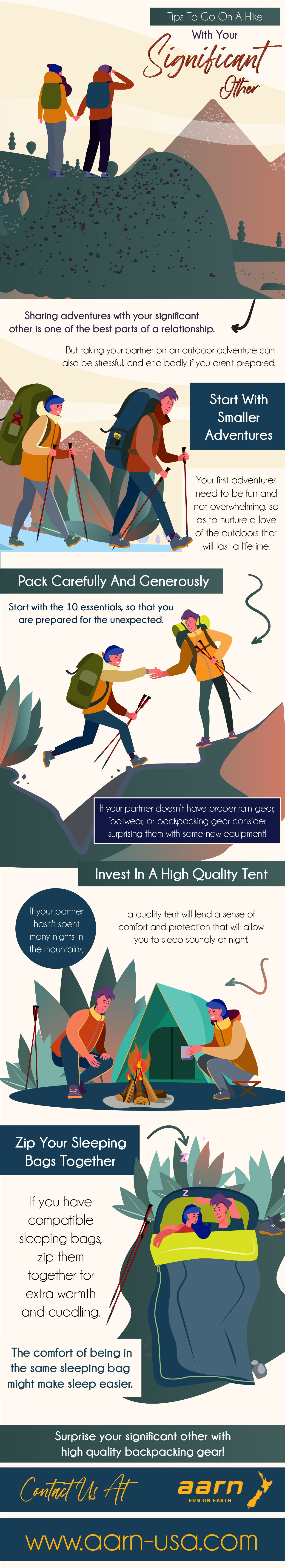 Tips to go on a hike with your significant other | Infographic