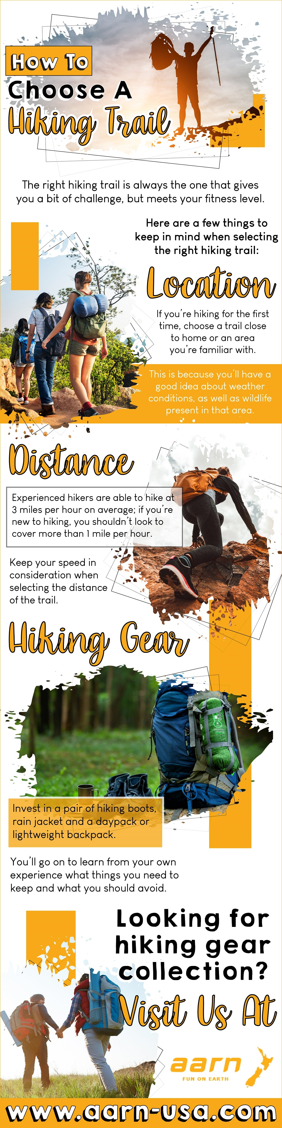 How To Choose A Hiking Trail   Infographic