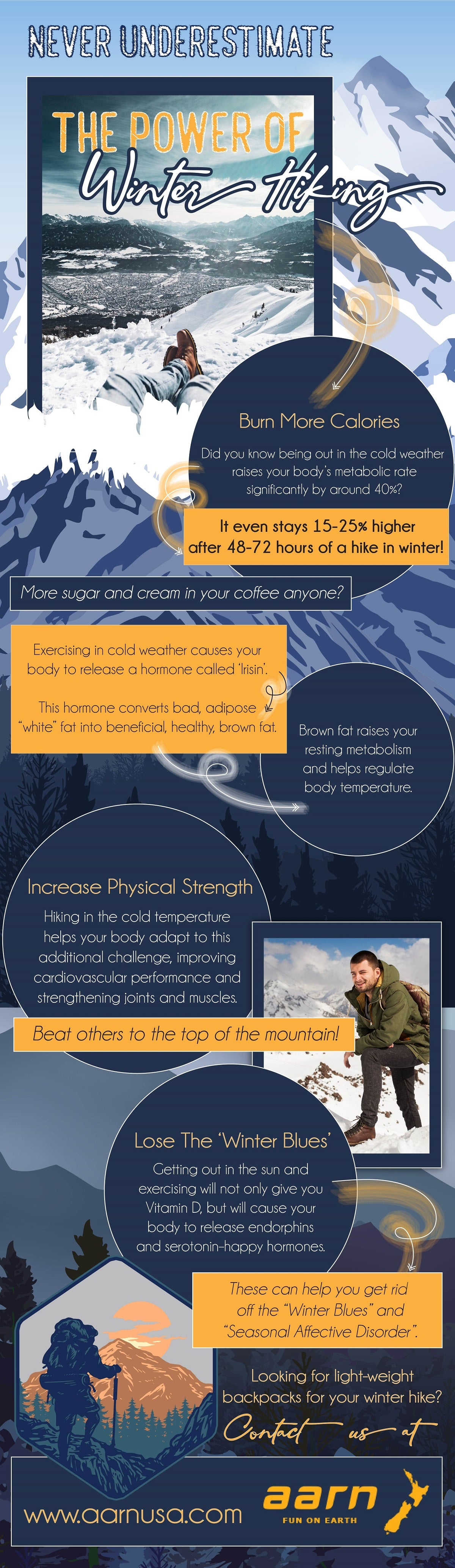 Never Underestimate The Power Of Winter Hiking - Infographic