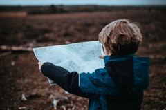 hike with your child is by sitting down with them and giving them a map