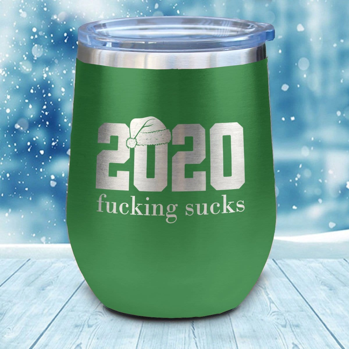 2020 Fucking Sucks Christmas Wine Glass
