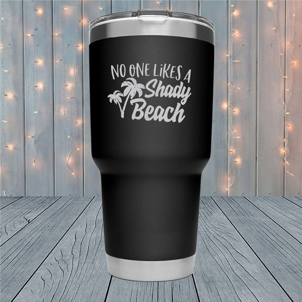 Shady Beach Laser Engraved Tumblers
