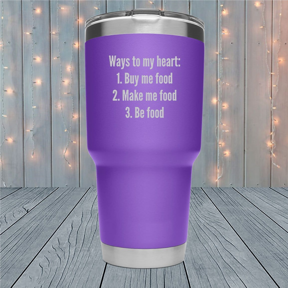 Ways To My Heart Laser Engraved Tumblers
