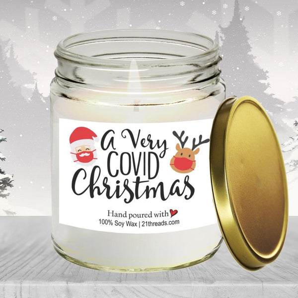 A Very COVID Christmas 8oz Premium 100% Soy Candle