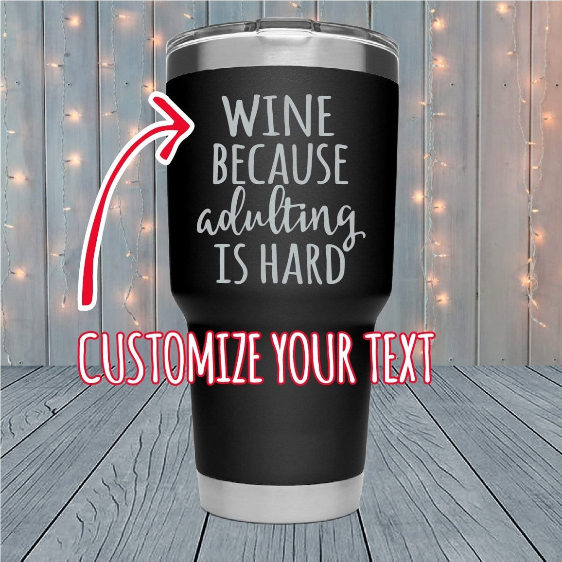 Adulting Is Hard Personalized Laser Engraved Tumblers