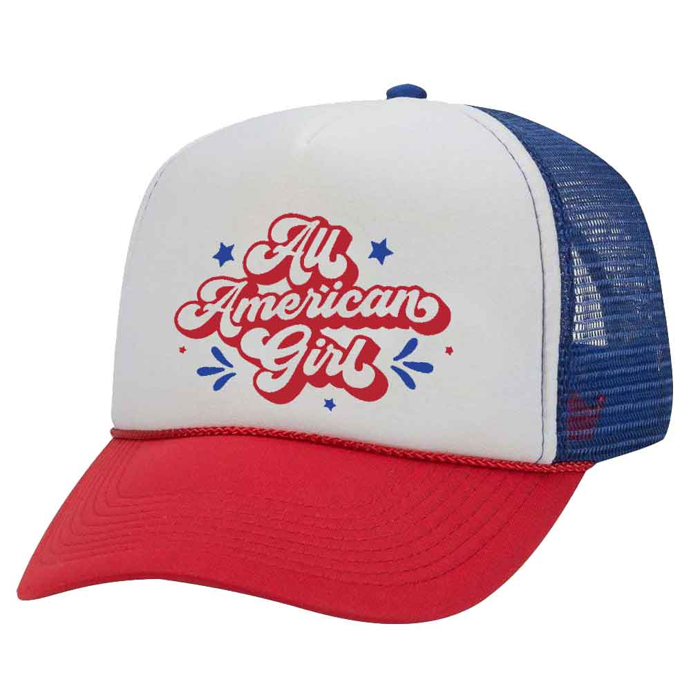 ALL AMERICAN GIRL TRUCKER HAT