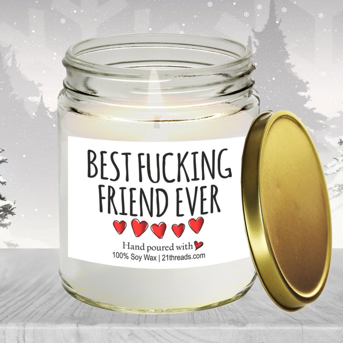 Best Fucking Friend 8oz Premium 100% Soy Candle