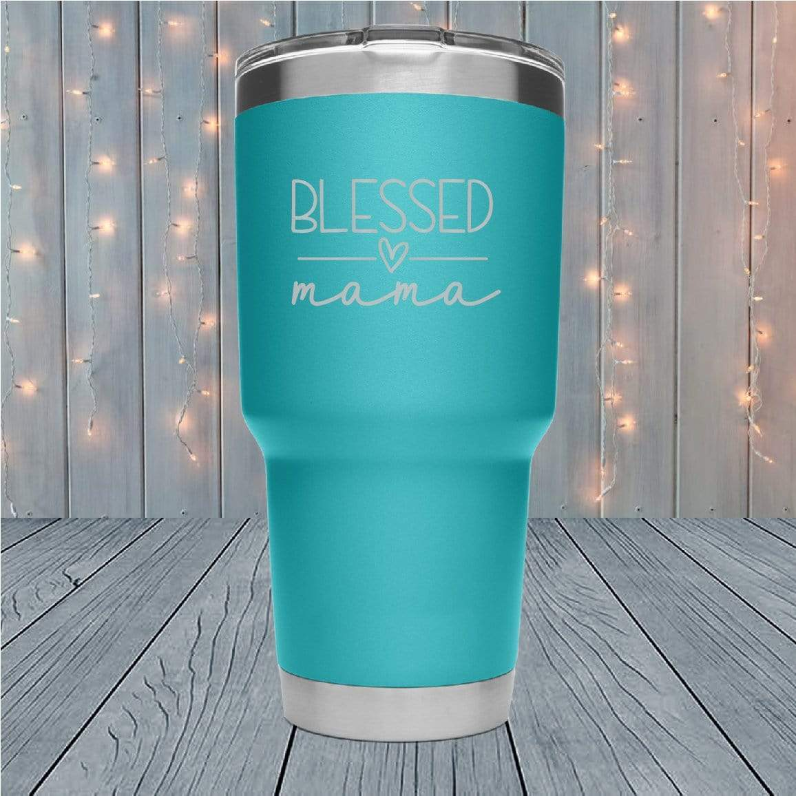 Blessed Mama Laser Engraved Tumblers