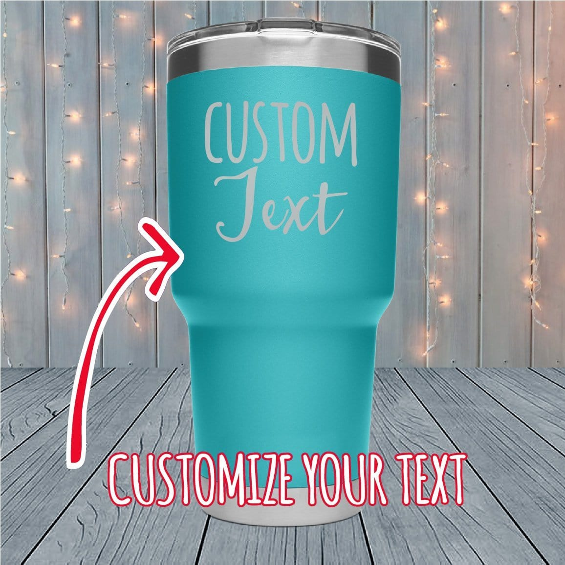 Custom Text Personalized Laser Engraved Tumblers