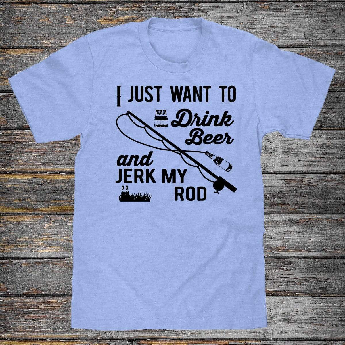 Drink Beer And Jerk My Rod Premium Unisex T-Shirt