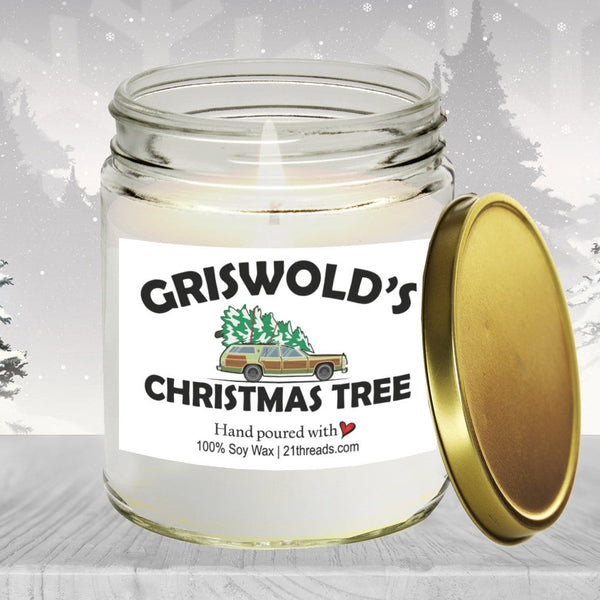 Griswold's Christmas Tree 8oz Premium 100% Soy Candle