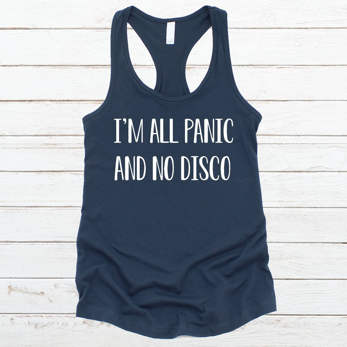 I'm All Panic And No Disco V-Necks And Tank Tops