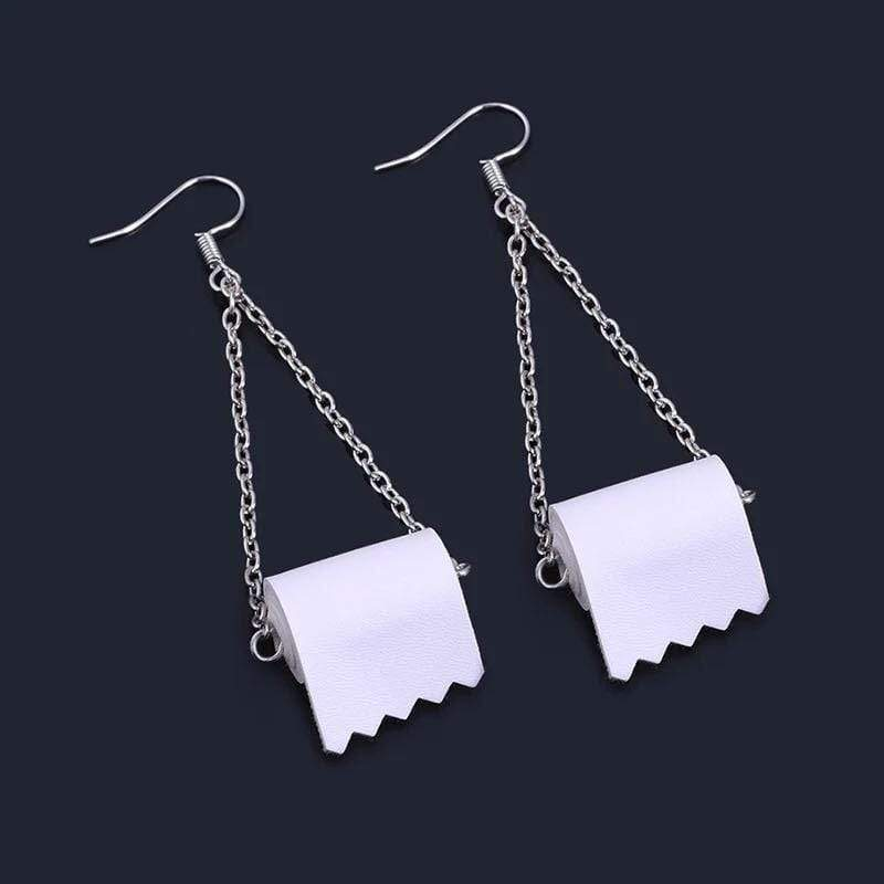 2020 Quarantine Handmade Toilet Paper Earrings