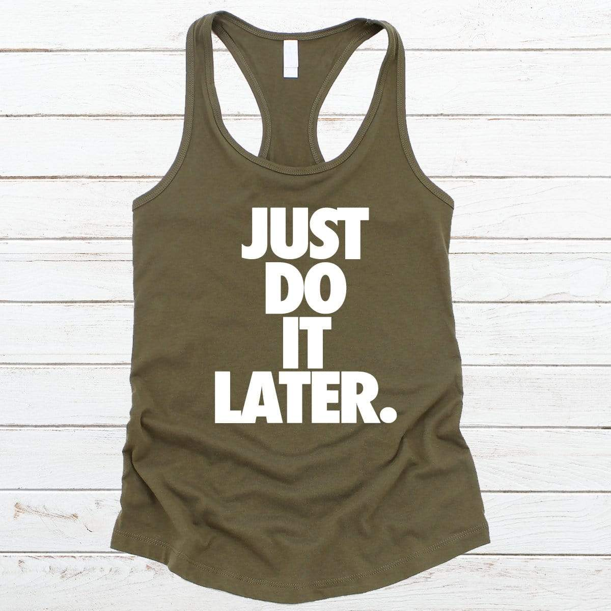 Just Do It Later V-Necks And Tank Tops