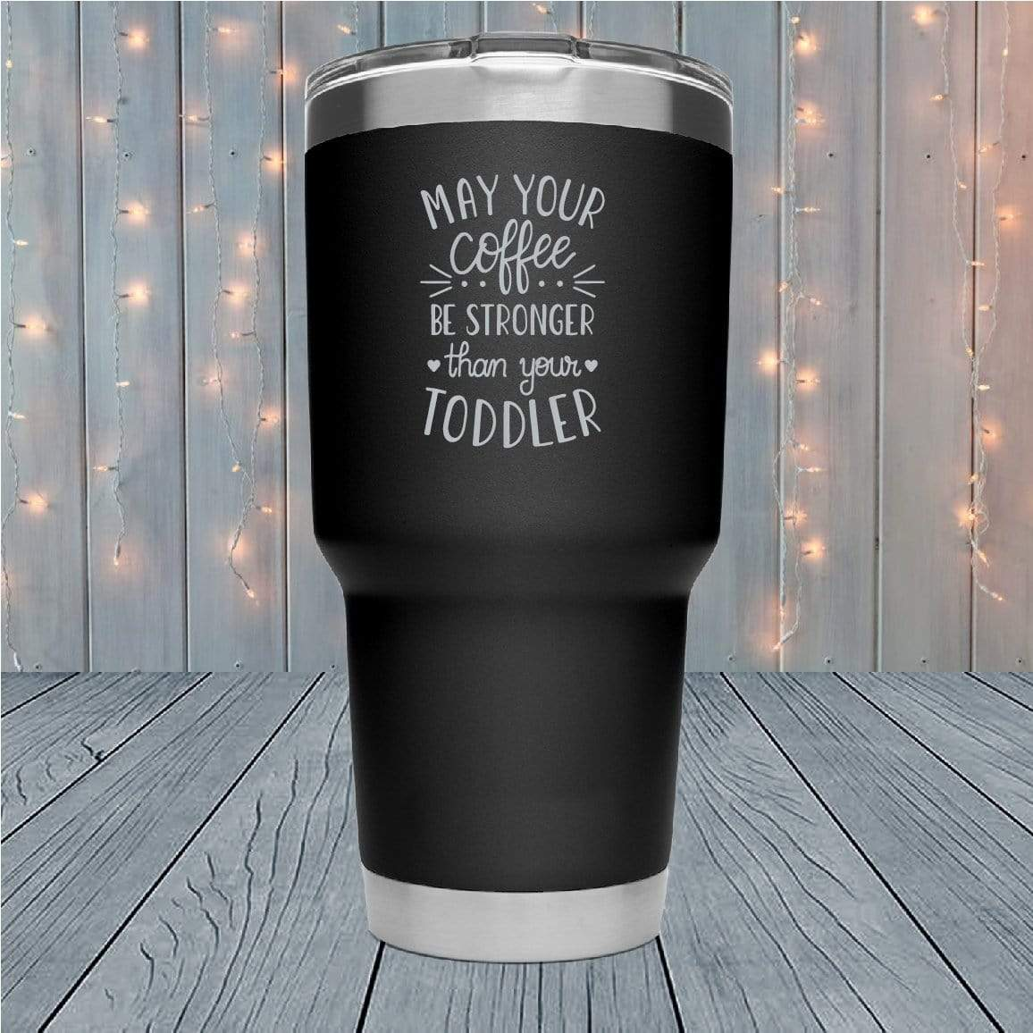 Strong Coffee Laser Engraved Tumblers