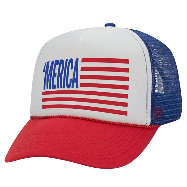 MERICA FLAG TRUCKER HAT