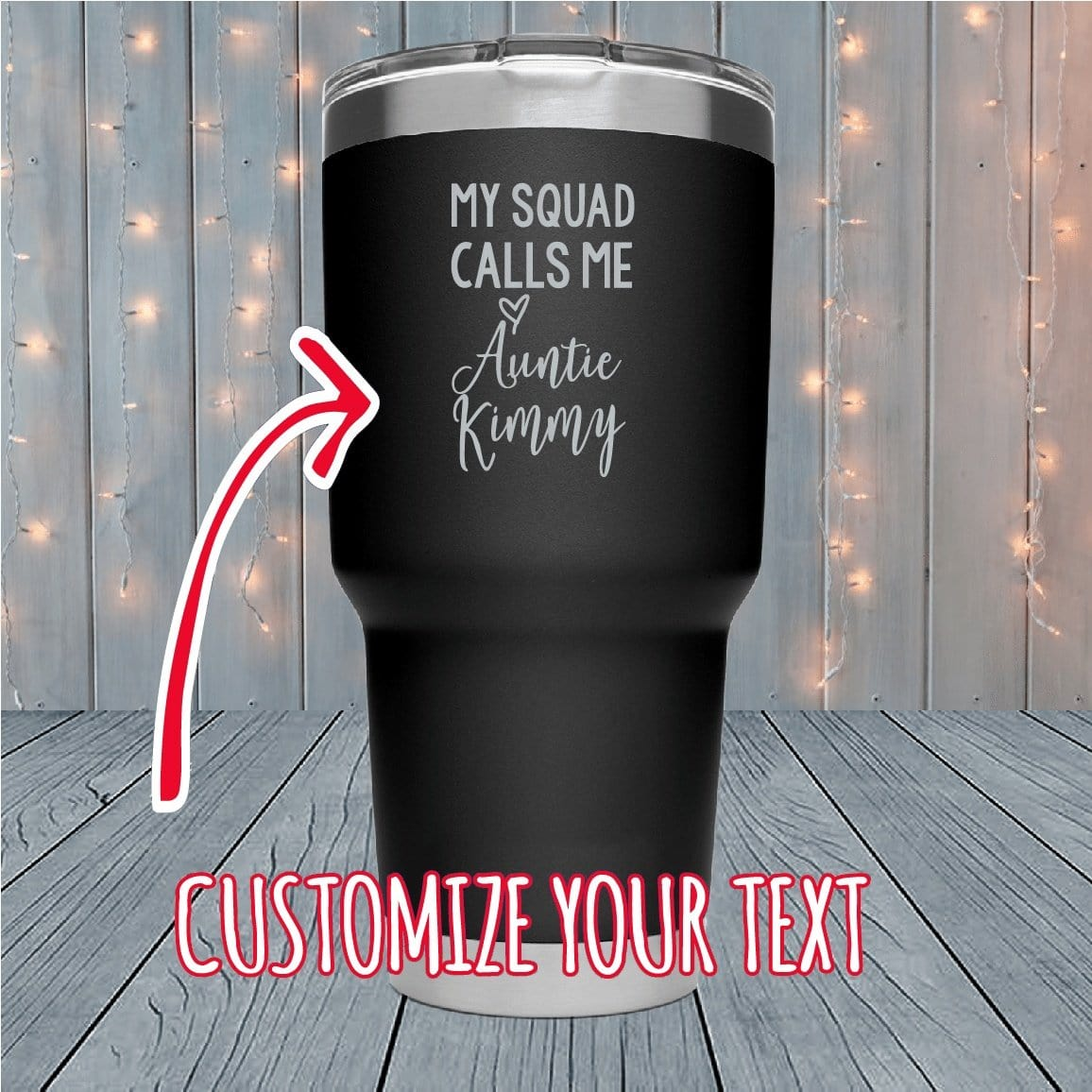 My Squad Calls Me Custom Laser Engraved Tumblers