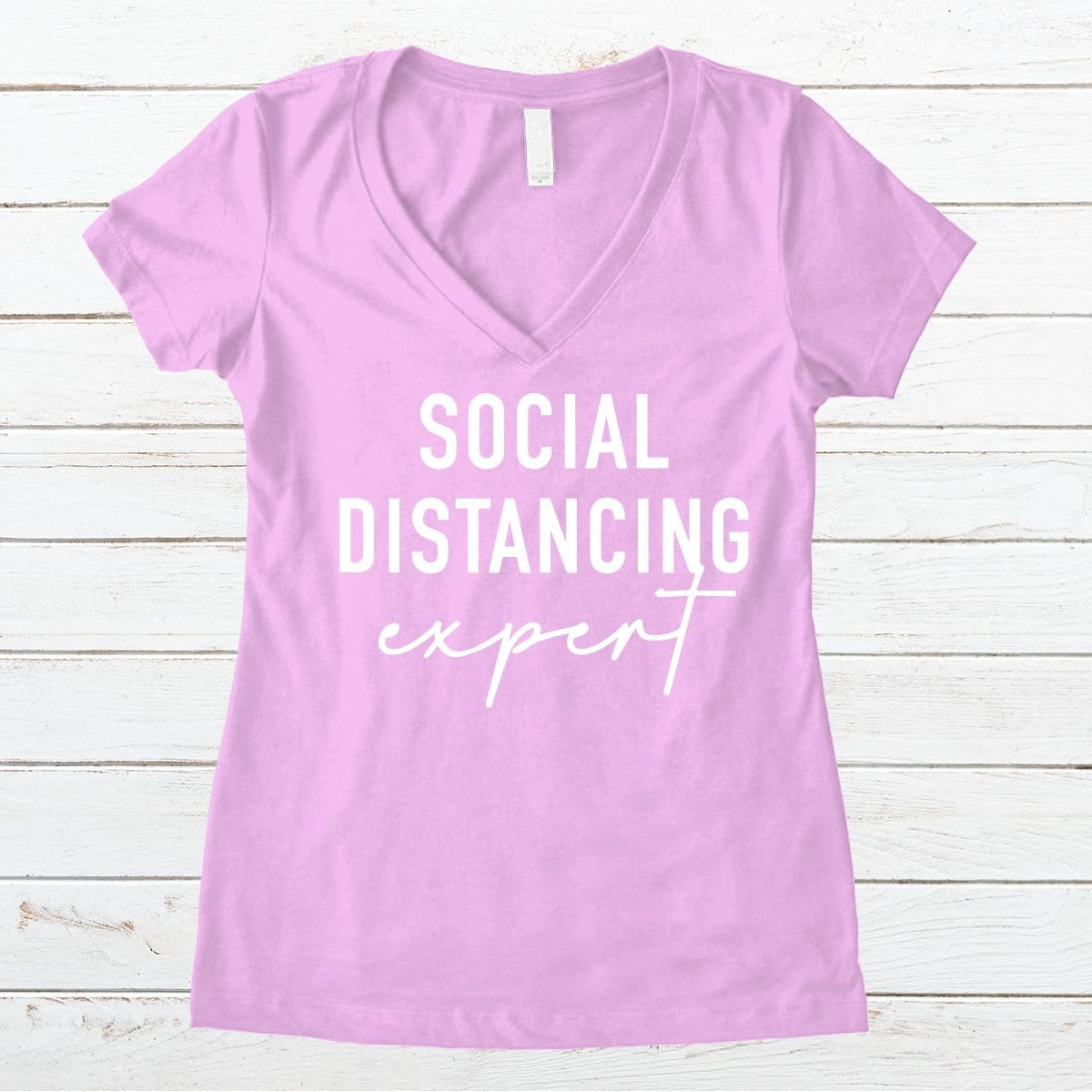 Social Distancing Expert V-Necks And Tank Tops