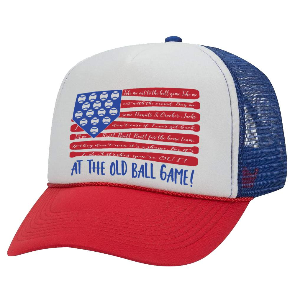 TAKE ME OUT FLAG TRUCKER HAT