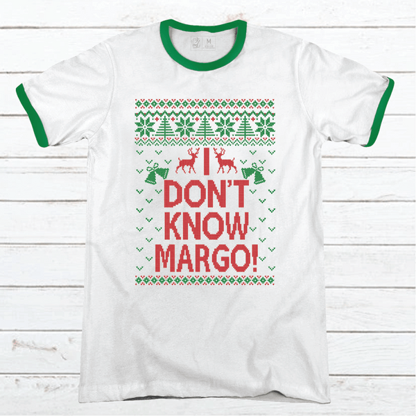 Todd + Margo Don't Know Premium Christmas Ringer Tee
