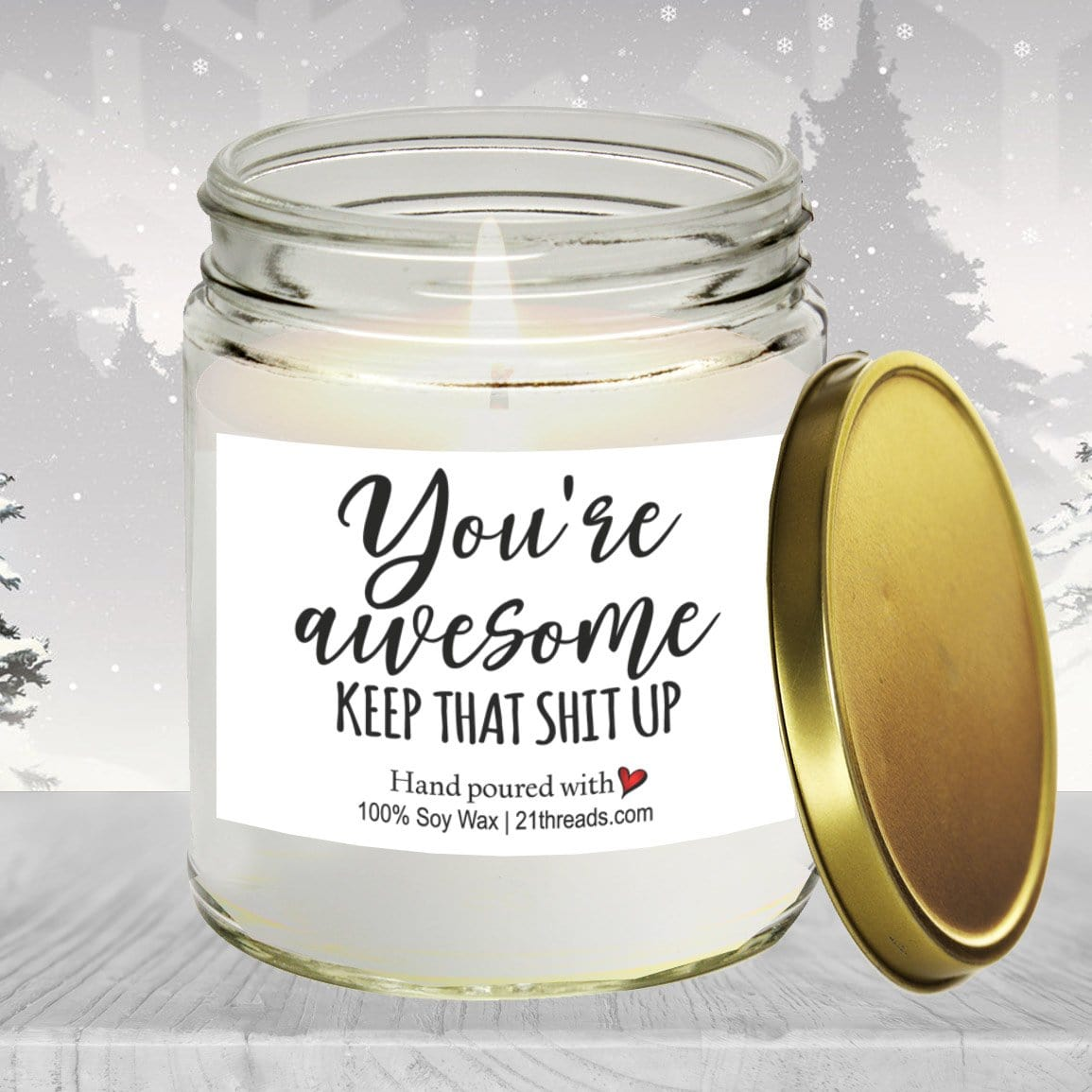 You're Awesome 8oz Premium 100% Soy Candle