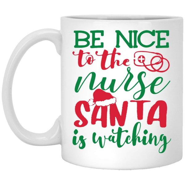 BE NICE Christmas Coffee Mug
