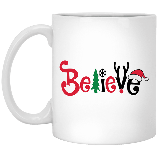 BELIEVE Christmas Coffee Mug