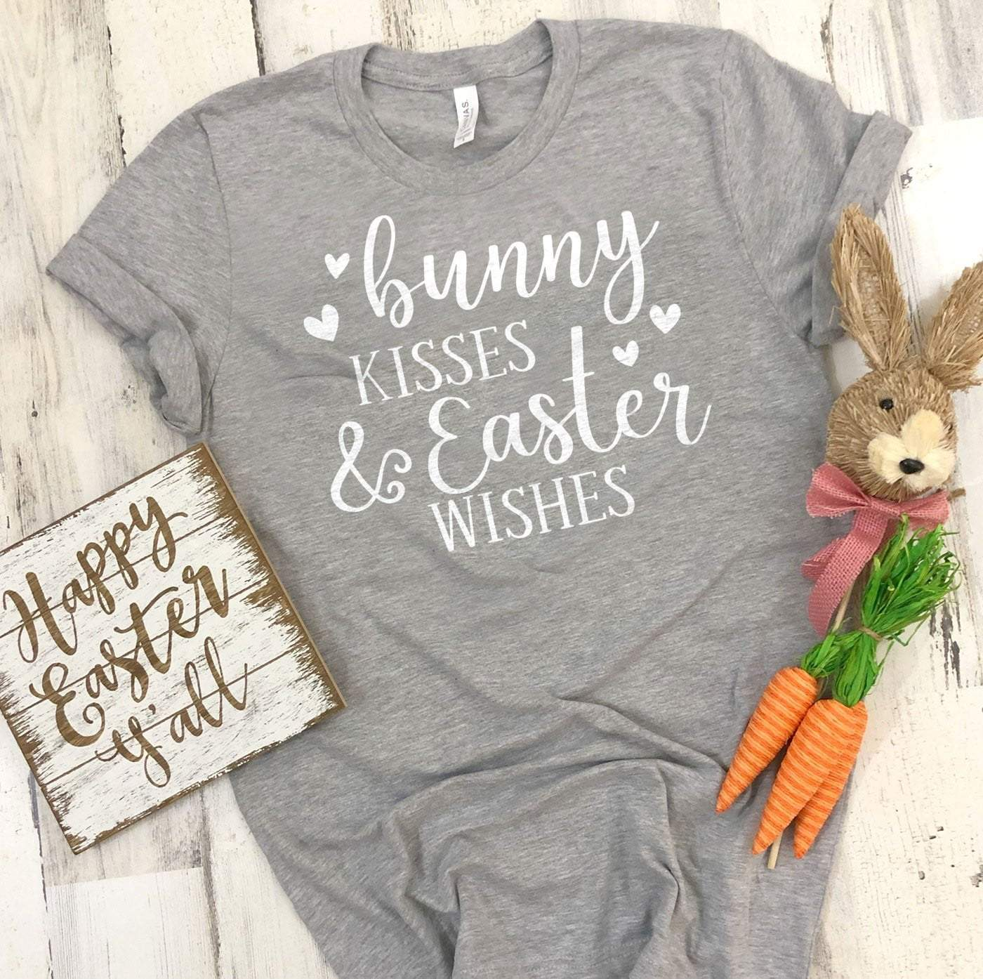 Bunny Kisses Easter Wishes Easter T's And Crews
