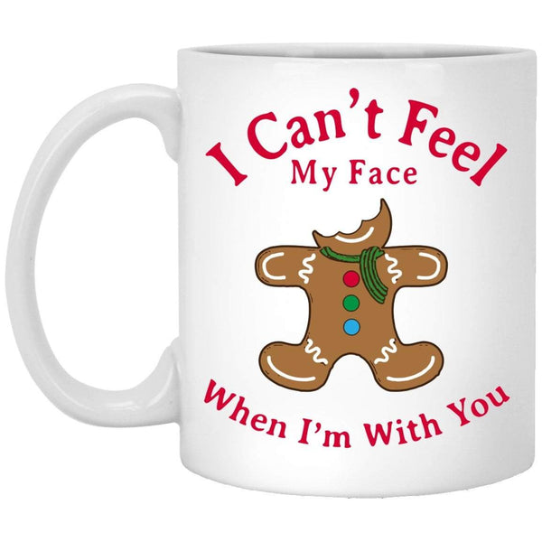 CAN'T FEEL MY FACE Christmas Coffee Mug