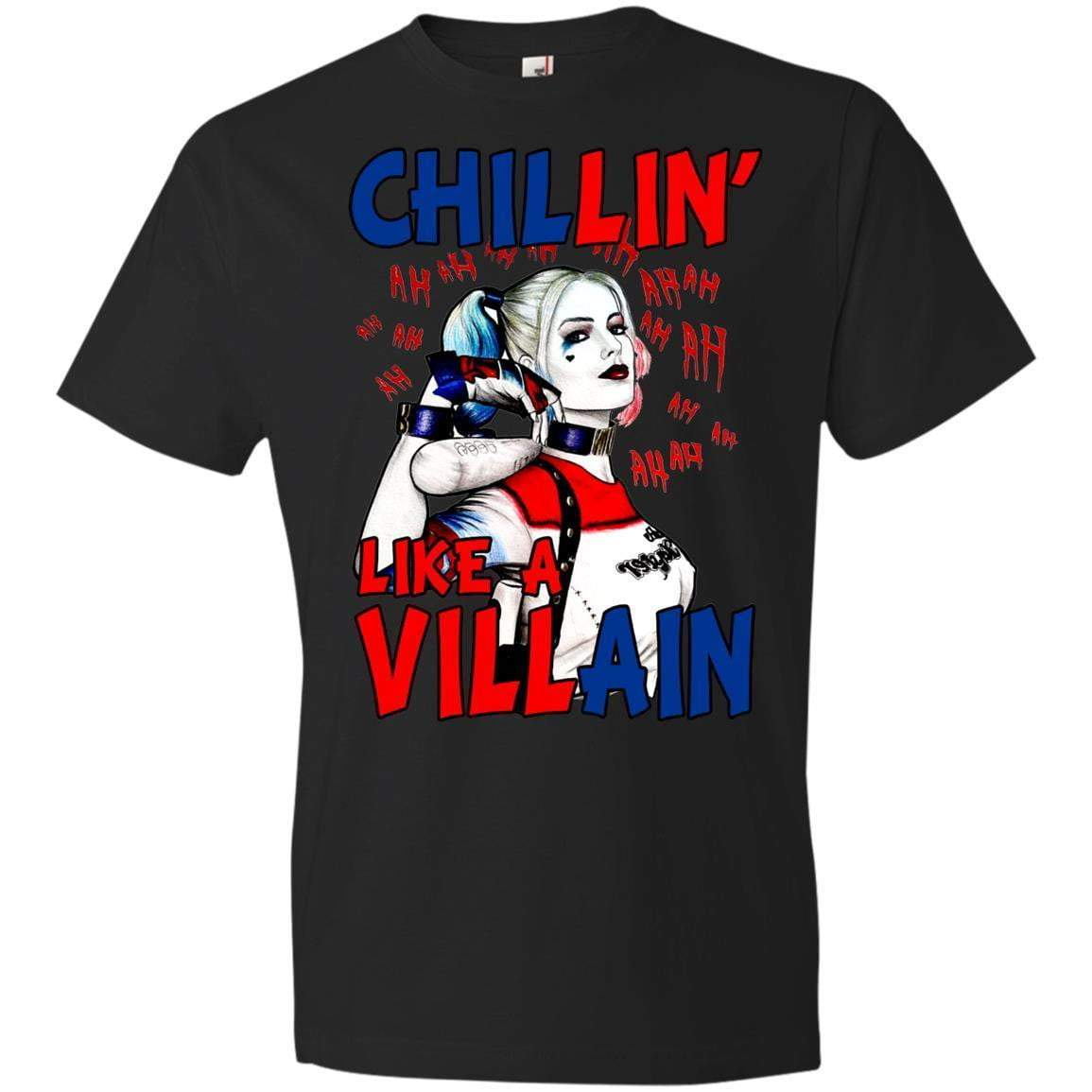 CHILLIN LIKE A VILLAIN - HARLEY QUINN Halloween T's And Crews
