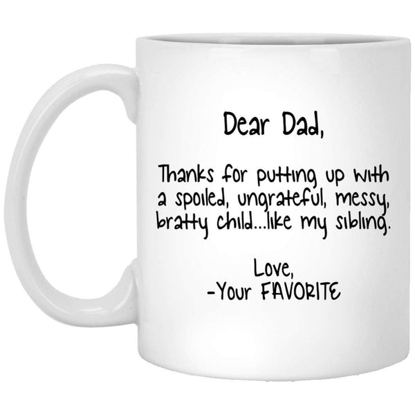 Dear Dad 2 Coffee Mug