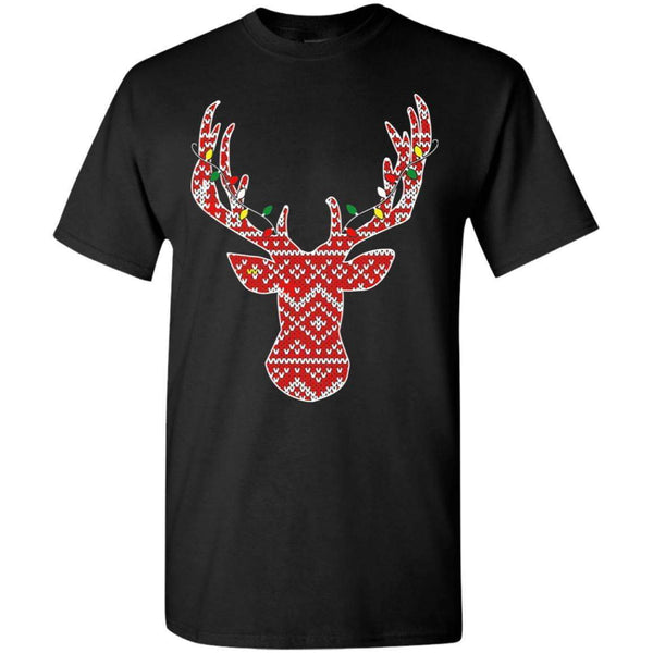 Deer Head Christmas T's And Crew's