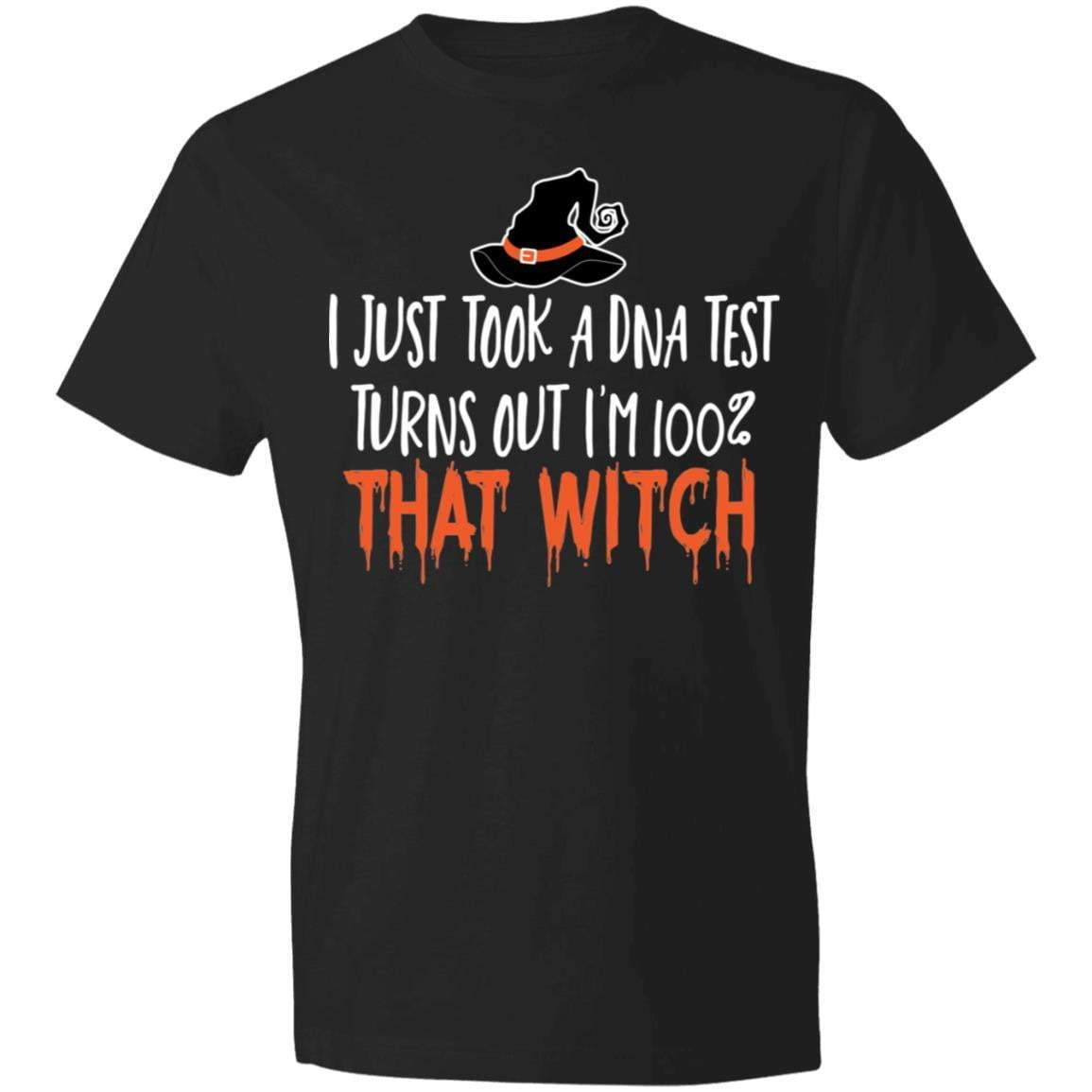 DNA TEST WITCH FOR BLACK Halloween T's And Crews