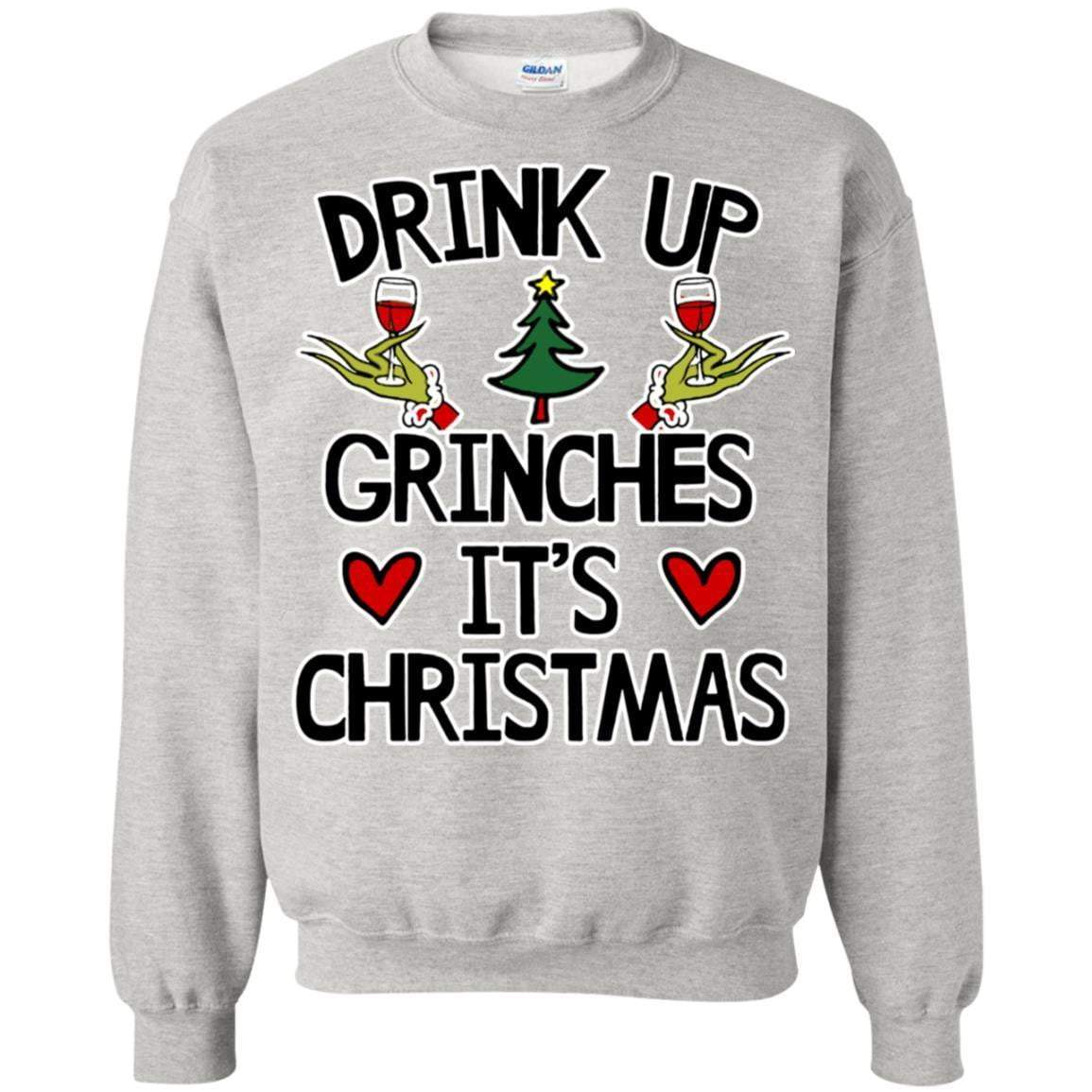 drink up grinches christmas ts and crews - Funny Christmas Sweater