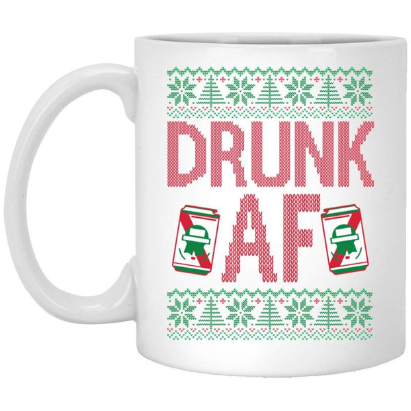 DRUNK AF Christmas Coffee Mug