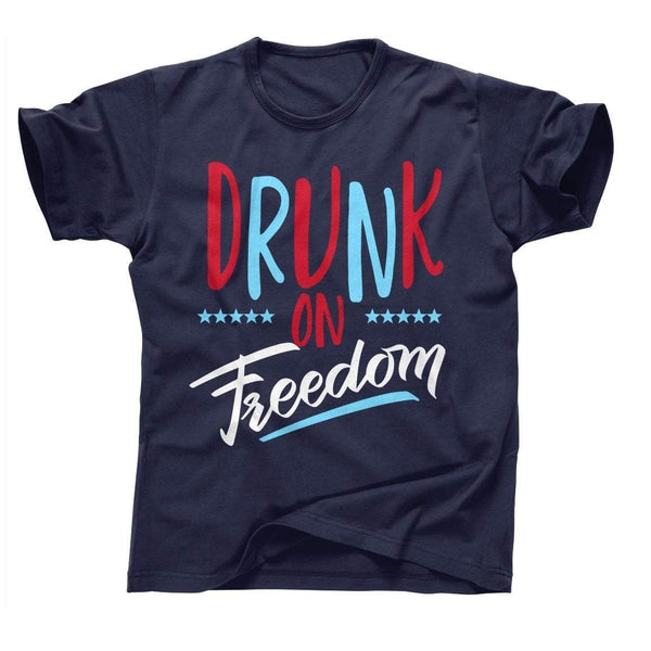 DRUNK ON FREEDOM 4th of July T's And Tanks