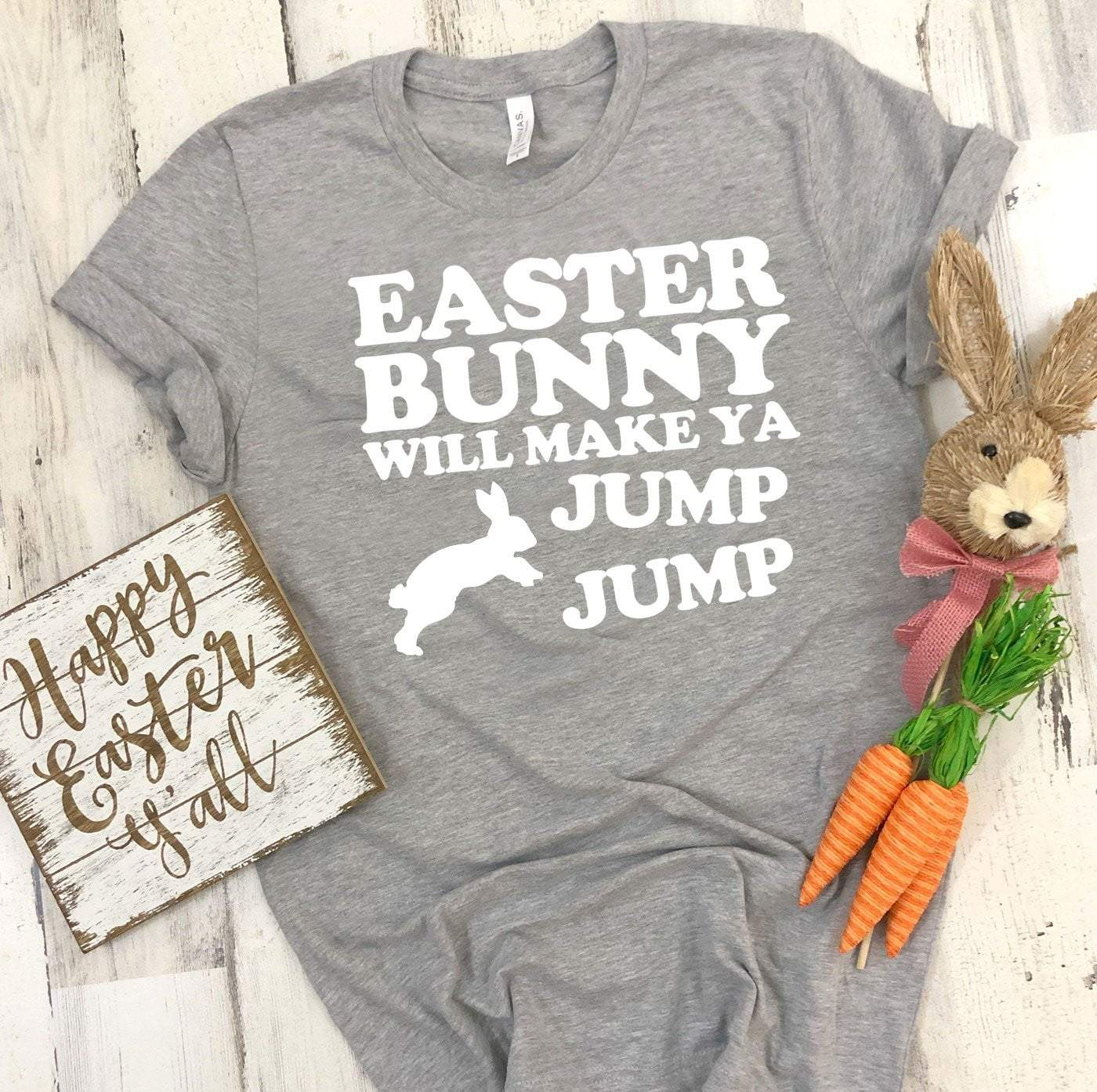 EASTER BUNNY JUMP Easter T's And Crews