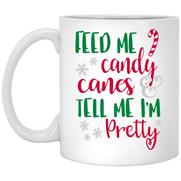 FEED ME CANDY CANES Christmas Coffee Mug