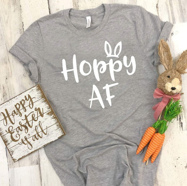 HOPPY AF Easter T's And Crews