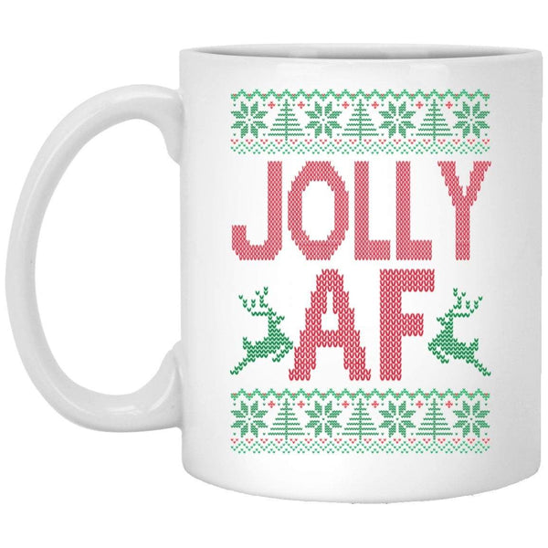 JOLLY AF Christmas Coffee Mug